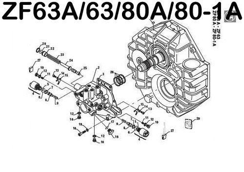 Product picture ZF 63 63A 80A 80-1A 85A SERVICE REPAIR & PARTS MANUAL